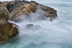 Soft water on rocks Royalty Free Stock Image