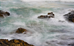 Soft water on rocks Royalty Free Stock Photography