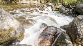 Soft Water. Runs through a river high in the Talamanca mountains of Costa Rica Stock Photos