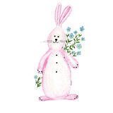 Soft watercolor illustration for children clothes. Made from soft rabbits Royalty Free Illustration