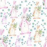 Soft watercolor illustration for children clothes. Made from soft rabbits Stock Illustration