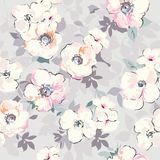 soft watercolor like floral print - seamless background Royalty Free Stock Photography