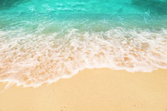 Soft wave running on the beach Stock Photography