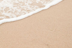 Soft wave on  sandy beach Royalty Free Stock Photo