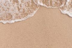 Soft wave  on sandy beach Royalty Free Stock Photo
