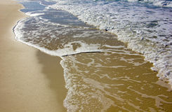Soft wave of the sea. On the sandy beach Stock Image