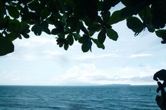 Sea with sky in summer royalty free stock images