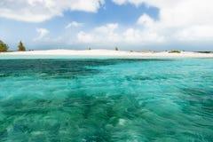 Soft wave of the sea on the sandy beach. Stock Photos