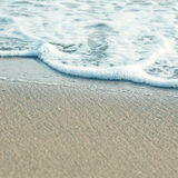 Soft wave of the sea on the sandy beach Stock Image