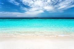 Soft wave at tropical sand beach island Royalty Free Stock Photos