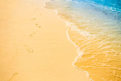 Soft wave at tropical sand beach island Stock Images