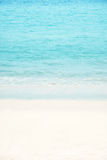 Soft wave of the tropical sea on the sandy beach. Royalty Free Stock Photo