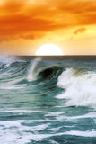 Soft waves. At the sunset Stock Image