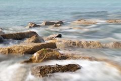 Soft waves in the lake Royalty Free Stock Photo