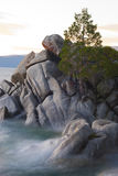 Soft Waves and Rocks Stock Photography