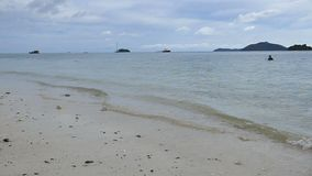 Soft waves in the sea. Travel the Andaman Sea holiday Phuket Thailand stock video footage