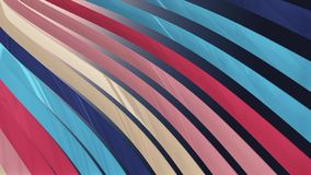 Soft waving striped fabric abstract lines illustration background new art colorful cool nice beautiful 3D rendering 4k stock illustration