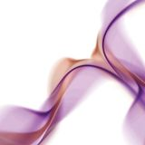 Soft Wavy Abstract. Purple smoke wavy abstract illustration - 2D royalty free illustration