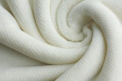Soft White Blanket Swirl Background Royalty Free Stock Photo