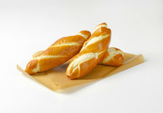 Soft white bread rolls Stock Images