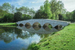 Soft white bridge in lake May Stock Images