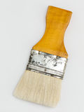 Soft white bristle paint brush Stock Photography