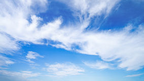 soft white cloud sector on blue sky for background Royalty Free Stock Image