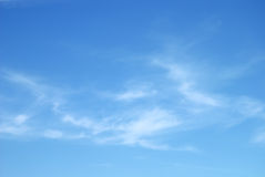 Soft white clouds against blue sky Royalty Free Stock Photography