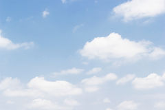 Soft white clouds against blue sky background and empty space  Royalty Free Stock Images