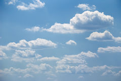 Soft white clouds and blue sky Stock Photo