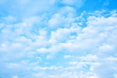 Soft white clouds in the sky Stock Image
