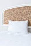 Soft white pillow Stock Photos