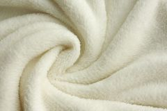 Soft White Plush Blanket Background Royalty Free Stock Image