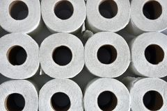 Soft White Toilet Tissue Close Up Royalty Free Stock Images