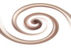 Vector background of swirling chocolate texture. Soft wonderful mixed light khaki color curvy eddy ripple luxury fond. Sweet yummy ecru volute fluid smooth choco stock illustration