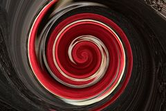 Soft wool of chocolate color is twisted into a spiral Stock Images