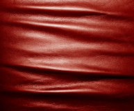 Soft wrinkled black leather Royalty Free Stock Photos