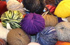 soft yarn of wool for sale in the wholesaler's shop Royalty Free Stock Photography