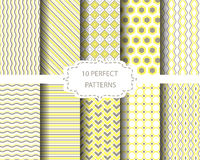 Soft yellow and brown patterns Stock Image