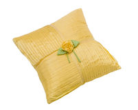 Soft yellow pillow Stock Images