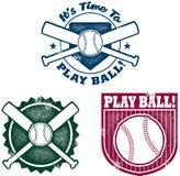 softball γραφικής παράστασης μπέιζ-μπώλ τρύγος ύφους απεικόνιση αποθεμάτων