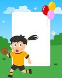 softball φωτογραφιών κοριτσιών π&lam απεικόνιση αποθεμάτων