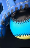 Softball. A close view of a softball set Royalty Free Stock Images