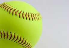 Softball. On white Royalty Free Stock Image