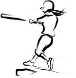 Softball Batter Brushed Royalty Free Stock Images