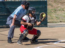 Softball Catcher Royalty Free Stock Photography