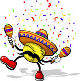 Softball Cinco De Mayo Lizenzfreies Stockbild