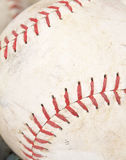 Softball close-up. Close-up of a softball on white Stock Images