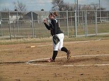 Softball das meninas Foto de Stock Royalty Free