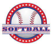 Softball Design - Red White and Blue Stock Photography